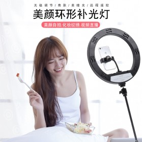 YUNGNUO Lampu Halo Ring Light LED Kamera Wired 192 LED 30W 12 Inch with 1xSmartphone Holder + Remote + Tripod - JY-30A - White - 5