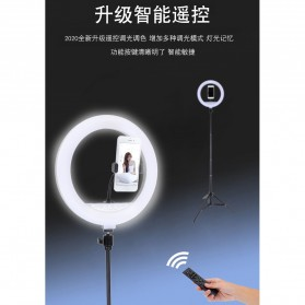 YUNGNUO Lampu Halo Ring Light LED Kamera Wired 192 LED 30W 12 Inch with 1xSmartphone Holder + Remote + Tripod - JY-30A - White - 6