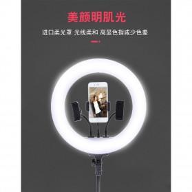 YUNGNUO Lampu Halo Ring Light Kamera USB Type C 225 LED 30W 14 Inch with 3xSmartphone Holder- JY-360C - White - 2