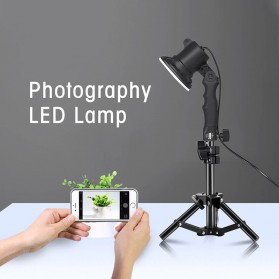 SH Lampu Portable Photo Studio 12W 5500K with Light Stand 37cm - PSX-51 - Black