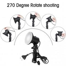 SH Lampu Portable Photo Studio 12W 5500K with Light Stand 37cm - PSX-51 - Black - 3