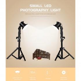 SH Lampu Portable Photo Studio 12W 5500K with Light Stand 37cm - PSX-51 - Black - 4