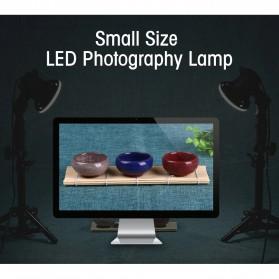 SH Lampu Portable Photo Studio 12W 5500K with Light Stand 37cm - PSX-51 - Black - 5