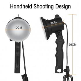SH Lampu Portable Photo Studio 12W 5500K with Light Stand 37cm - PSX-51 - Black - 10