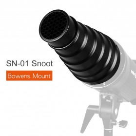 Bowens Mount Conical Snoot Honeycomb Large Snoot for Speedlight Fotografi - SN-01 - Black