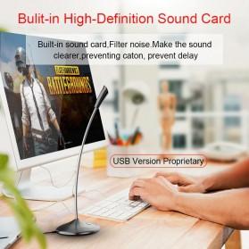 Popupine Studio Stereo Recording Microphone 360 Degree Rotation 3.5mm - SF300 - Black - 7