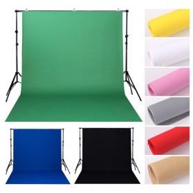 SH Kain Backdrop Studio Fotografi Non-Woven Textile 140 x 200 cm - SH-BJB-01 - Black - 3