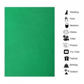 SH Kain Backdrop Studio Fotografi Non-Woven Textile 140 x 200 cm - SH-BJB-01 - Green - 5