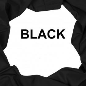 Ambitful Kain Backdrop Studio Fotografi Cotton Textile Muslin Cloth 150 x 200 cm - B29 - Black