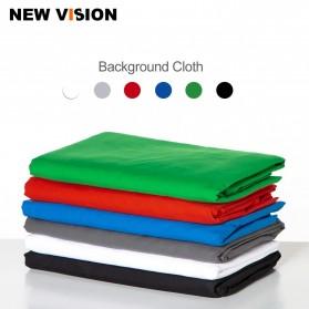 Ambitful Kain Backdrop Studio Fotografi Cotton Textile Muslin Cloth 200 x 200 cm - B29 - Red - 2