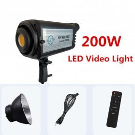 KEAYO Lampu LED Lightning Video Studio 200W with Remote Control - KY-BK0131 - Black