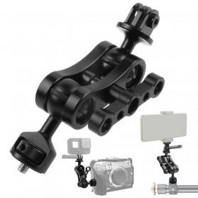 BGNing Ball Head Clamp Magic Arm Tripod Kamera 1/4 For DSLR - 30324 - Black