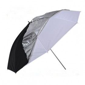 Payung Studio Reflective Photography Umbrella Double Layers 83cm - Black White