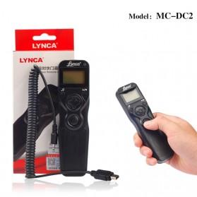 LYNCA Shutter Timer Remote Control Kamera Nikon D3100 D5300 - MC-DC2 - Black