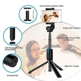 APEXEL Tongsis Tripod dengan Bluetooth Shutter Rechargerable - APL-D3 - Black - 7