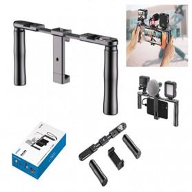 Camera Stabilizer & Handle - APEXEL U-Rig Smartphone Clamp Handheld Rig Stabilizer - APL-VG02 - Black