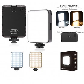 Flash Kamera - APEXEL Flash Kamera DSLR Dimmable 2500K - 6500K  64 LED - W64 - Black