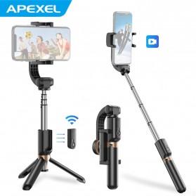 APEXEL Tongsis Selfie Tripod Mini dengan Gimbal Stabilizer Bluetooth Shutter - APL-D6 - Black