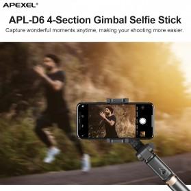 APEXEL Tongsis Selfie Tripod Mini dengan Gimbal Stabilizer Bluetooth Shutter - APL-D6 - Black - 2