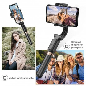 APEXEL Tongsis Selfie Tripod Mini dengan Gimbal Stabilizer Bluetooth Shutter - APL-D6 - Black - 4
