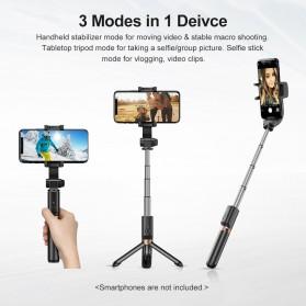 APEXEL Tongsis Selfie Tripod Mini dengan Gimbal Stabilizer Bluetooth Shutter - APL-D6 - Black - 5