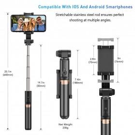 APEXEL Tongsis Selfie Tripod Mini dengan Gimbal Stabilizer Bluetooth Shutter - APL-D6 - Black - 8