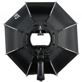 TRIOPO Payung Studio Octagonal Umbrella Softbox Reflektor Flash 55CM - KS55 - Black - 2