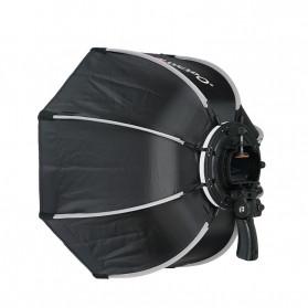 TRIOPO Payung Studio Octagonal Umbrella Softbox Reflektor Flash 55CM - KS55 - Black - 3