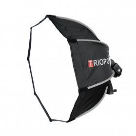 TRIOPO Payung Studio Octagonal Umbrella Softbox Reflektor Flash 55CM - KS55 - Black - 4