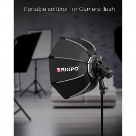 TRIOPO Payung Studio Octagonal Umbrella Softbox Reflektor Flash 55CM - KS55 - Black - 7
