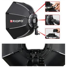 TRIOPO Payung Studio Octagonal Umbrella Softbox Reflektor Flash 55CM - KS55 - Black - 8