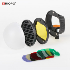TRIOPO Speedlite Flash Light Modifier DIffuser Reflector - TR08 - Black