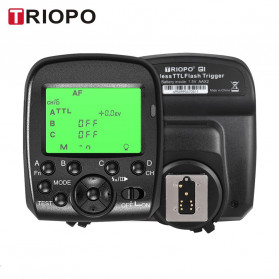 TRIOPO Wireless Flash Trigger Dual TTL WIdescreen LCD 1/8000s HSS - G1 - Black