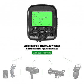 TRIOPO Wireless Flash Trigger Dual TTL WIdescreen LCD 1/8000s HSS - G1 - Black - 11