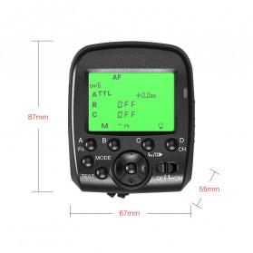 TRIOPO Wireless Flash Trigger Dual TTL WIdescreen LCD 1/8000s HSS - G1 - Black - 3