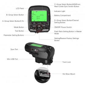 TRIOPO Wireless Flash Trigger Dual TTL WIdescreen LCD 1/8000s HSS - G1 - Black - 5