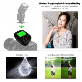 TRIOPO Wireless Flash Trigger Dual TTL WIdescreen LCD 1/8000s HSS - G1 - Black - 8
