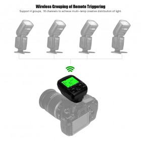 TRIOPO Wireless Flash Trigger Dual TTL WIdescreen LCD 1/8000s HSS - G1 - Black - 9