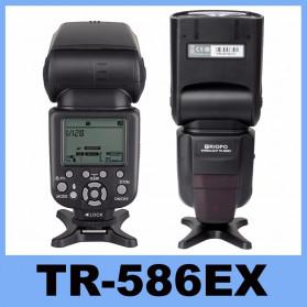 TRIOPO Camera Flash Speedlite TTL High Speed Sync for Canon 5D Nikon D750 D800 D3200 D7100 - TR-586EX - Black