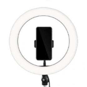 TaffSTUDIO Lampu Halo Ring Light LED Kamera 12W 8 Inch with Smartphone Holder - RL-21 - White - 7