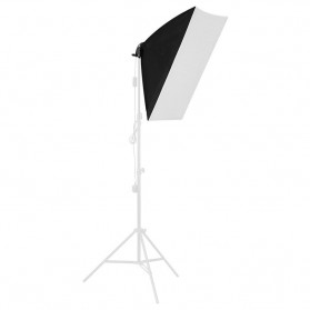 TaffSTUDIO Payung Softbox Reflektor 40x40cm E27 Single Lamp Socket - LD-TZ206 - Black - 2