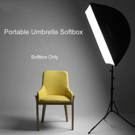 TaffSTUDIO Payung Softbox Reflektor 40x40cm E27 Single Lamp Socket - LD-TZ206 - Black - 8