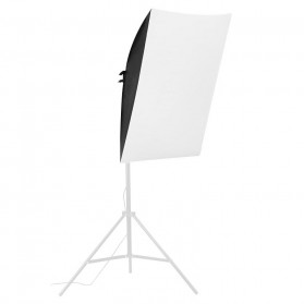 TaffSTUDIO Payung Softbox Reflektor 60x60cm E27 Single Lamp Socket - LD-TZ206 - Black