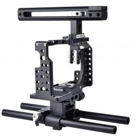 YELANGU Camera Cage Rig Kit for Sony A7 A7K A72 A73 A7S2 A7R2 A7R3 A7X - CA7 - Black - 2