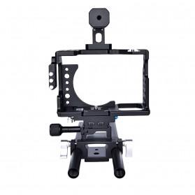 YELANGU Camera Cage Rig Kit for Sony A7 A7K A72 A73 A7S2 A7R2 A7R3 A7X - CA7 - Black - 3