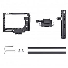 YELANGU Camera Cage Rig Kit for Sony A7 A7K A72 A73 A7S2 A7R2 A7R3 A7X - CA7 - Black - 4