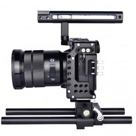 YELANGU Camera Cage Rig Kit for Sony A7 A7K A72 A73 A7S2 A7R2 A7R3 A7X - CA7 - Black - 6