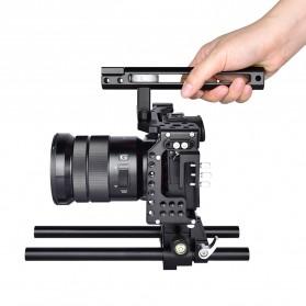 YELANGU Camera Cage Rig Kit for Sony A7 A7K A72 A73 A7S2 A7R2 A7R3 A7X - CA7 - Black - 7