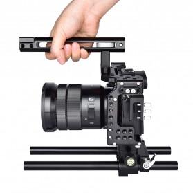 YELANGU Camera Cage Rig Kit for Sony A7 A7K A72 A73 A7S2 A7R2 A7R3 A7X - CA7 - Black - 8