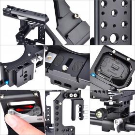 YELANGU Camera Cage Rig Kit for Sony A7 A7K A72 A73 A7S2 A7R2 A7R3 A7X - CA7 - Black - 9